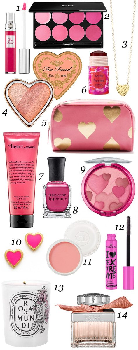 Valentine's Day beauty products