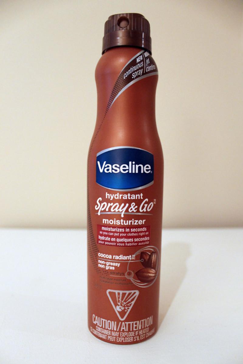 Vaseline Spray & Go Moisturizer - review and photos