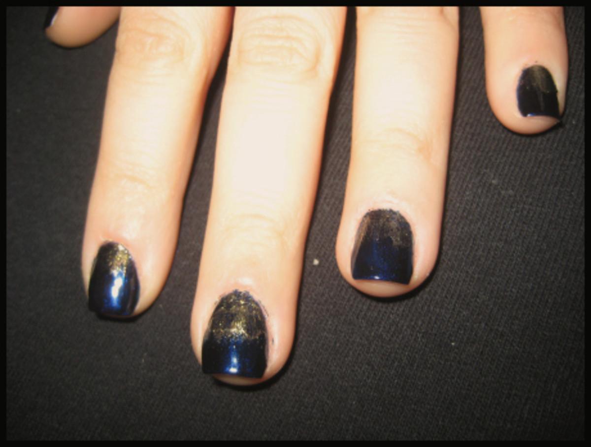 Glitter Ombre mani - step 2b