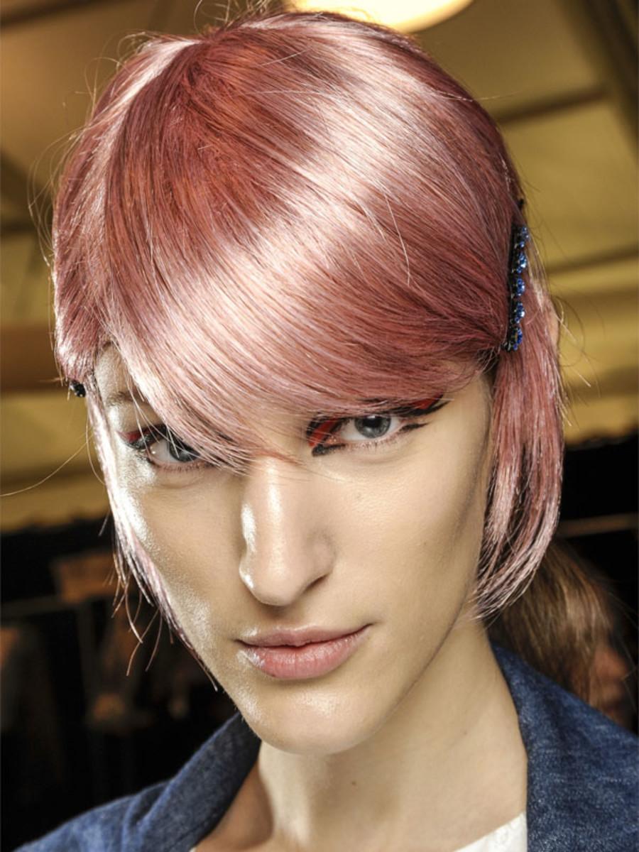 Anna Sui - Spring 2013 hair