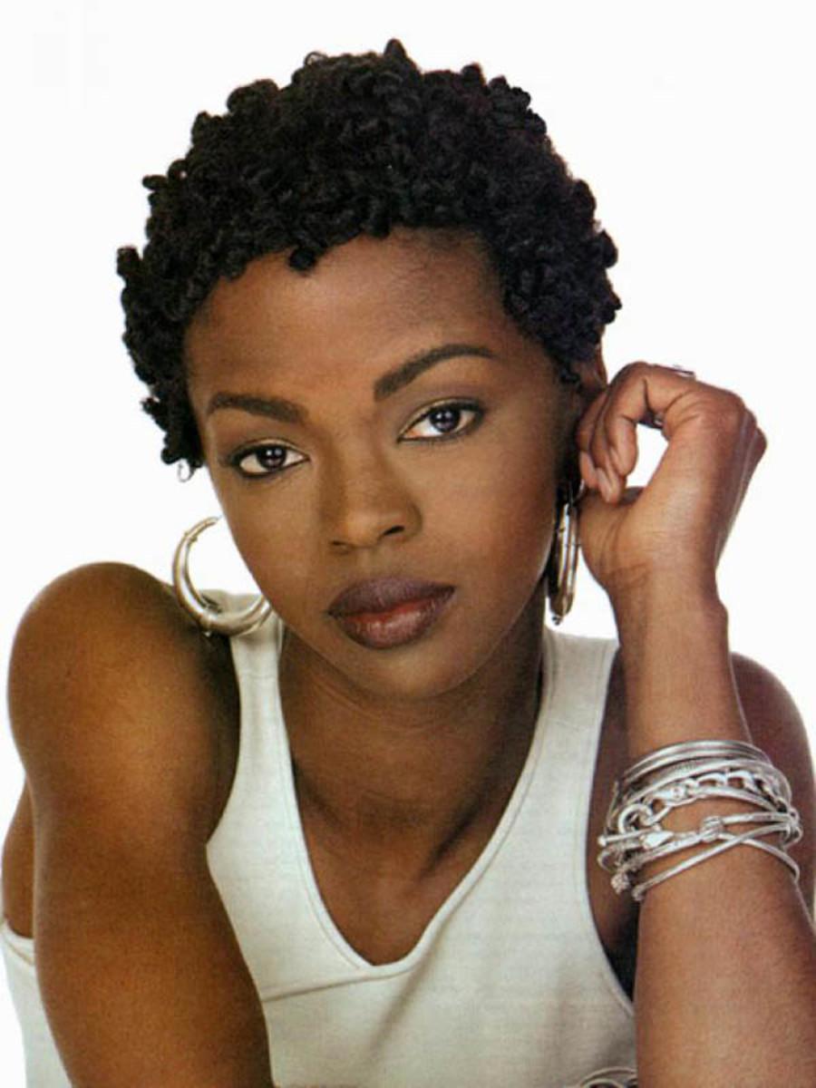 Lauryn Hill short knotty hair