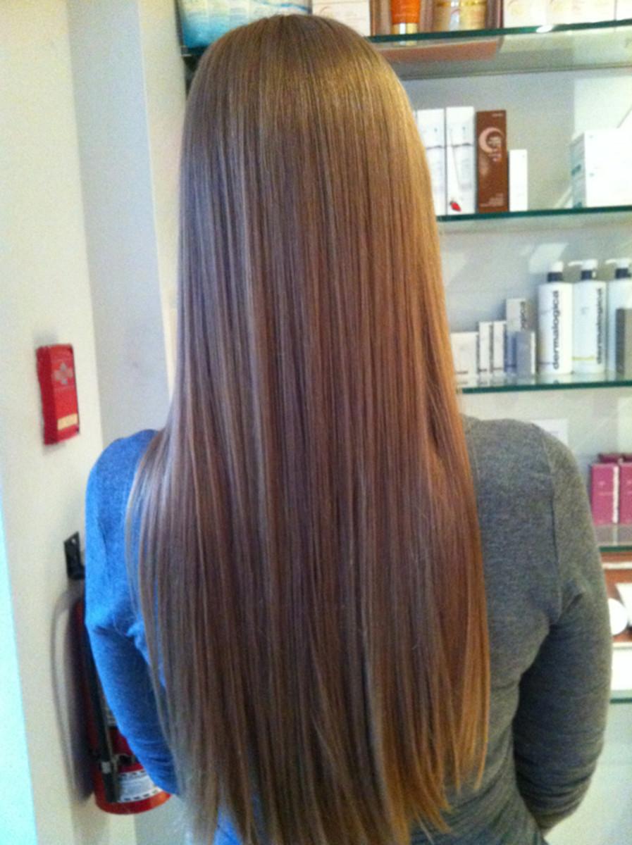 Michelle sandy blonde back