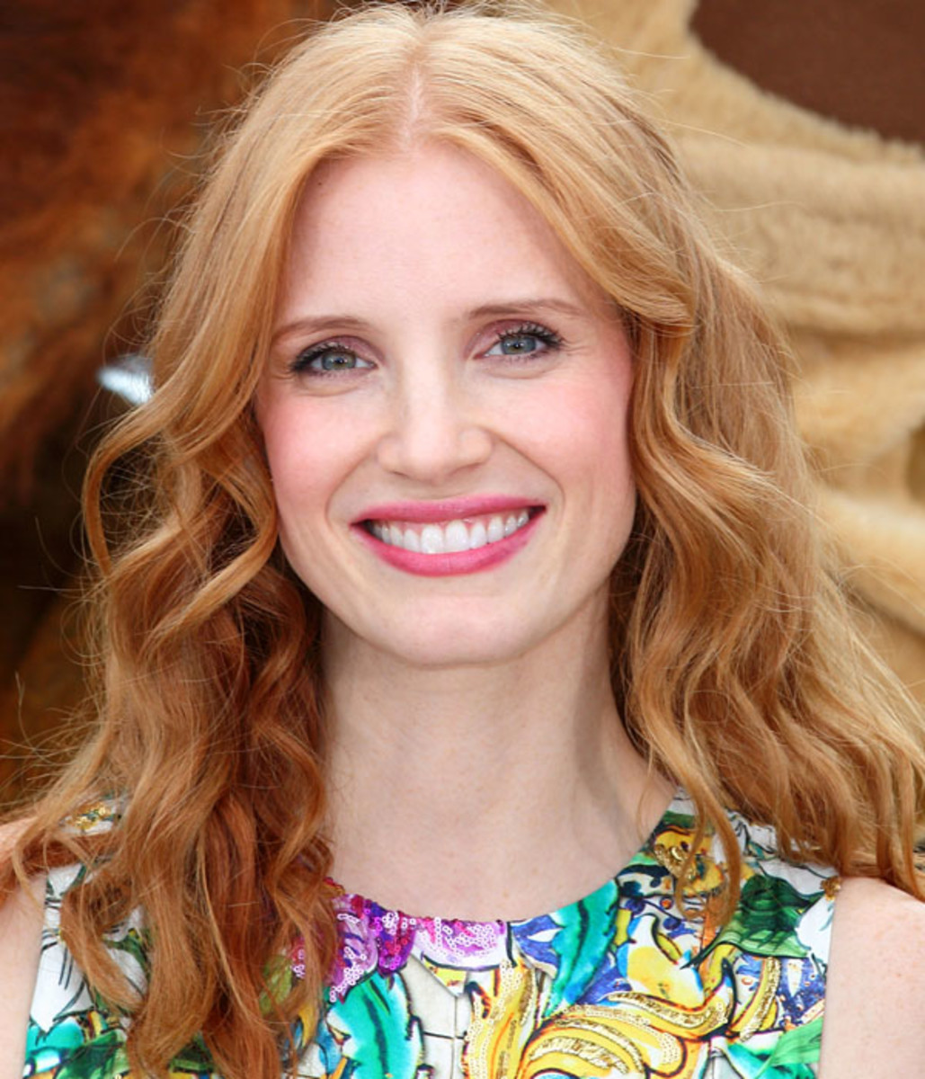 Jessica Chastain, Madagascar 3 photocall, Cannes 2012