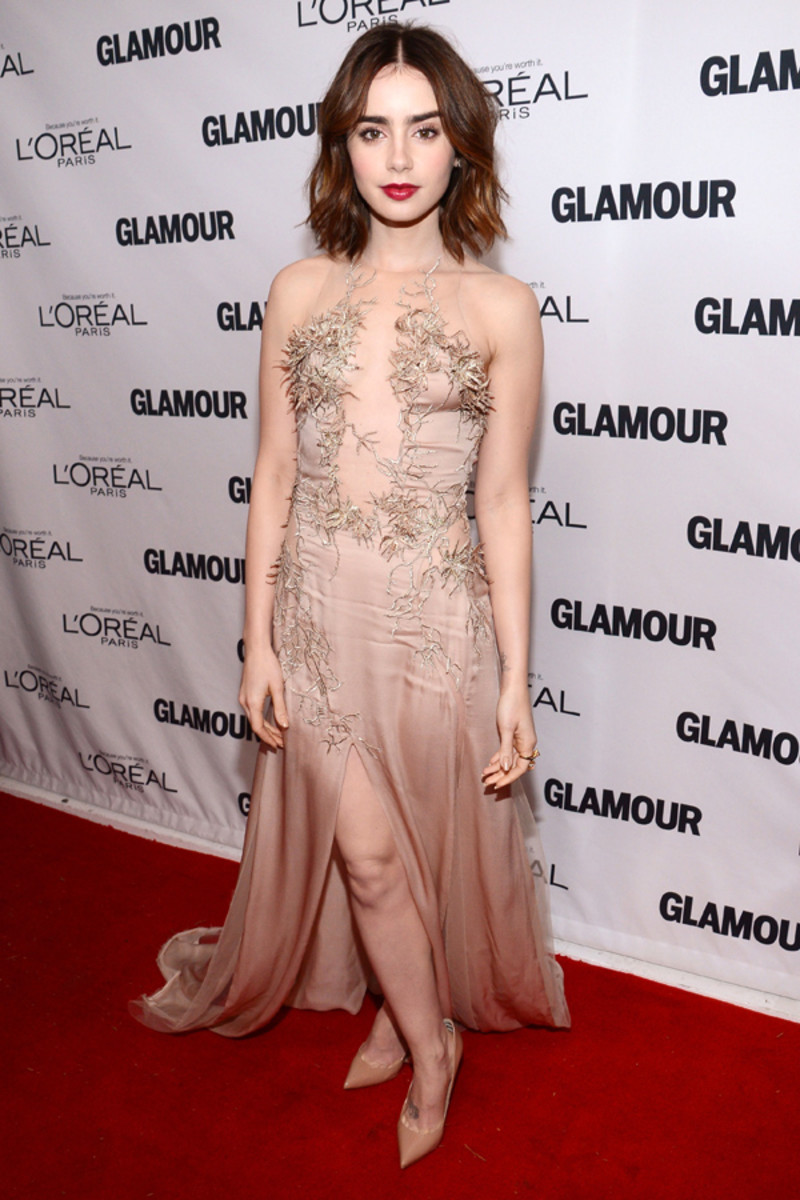 Lily Collins, Glamour Women of the Year awards, 2013 (2)
