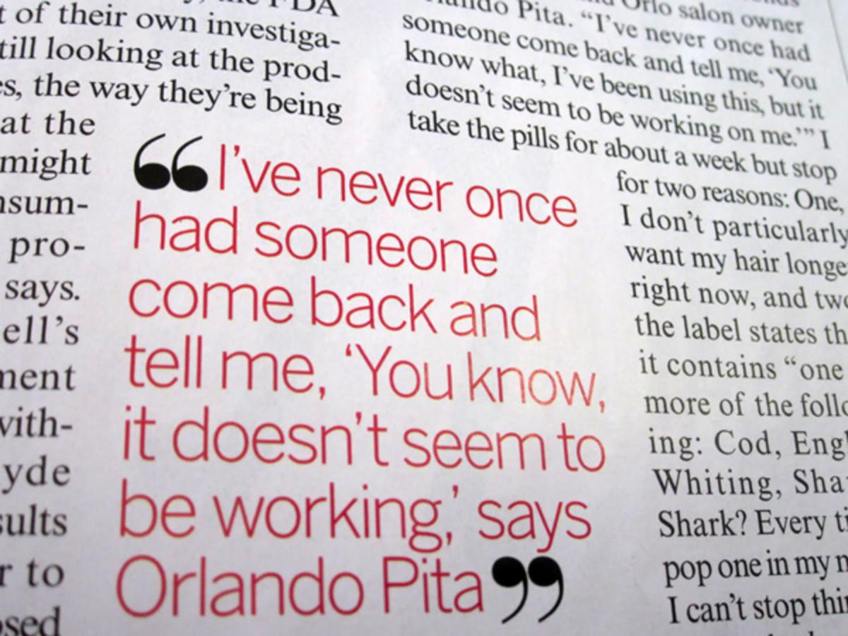 Viviscal Orlando Pita endorsement