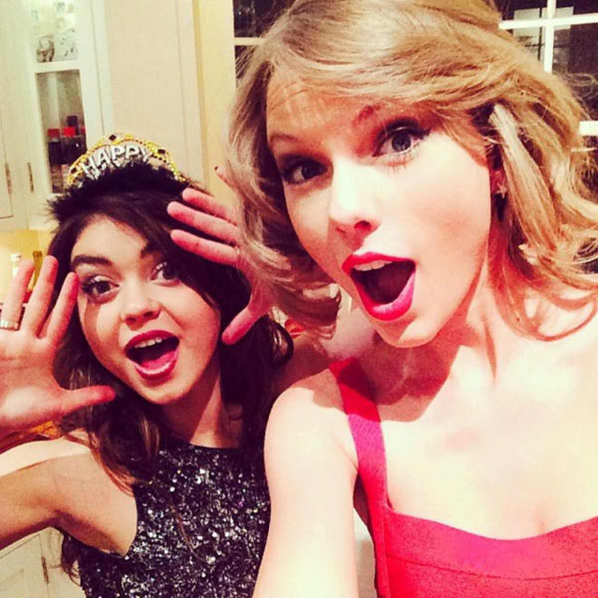 New Year's beauty resolutions - Sarah Hyland and Taylor Swift