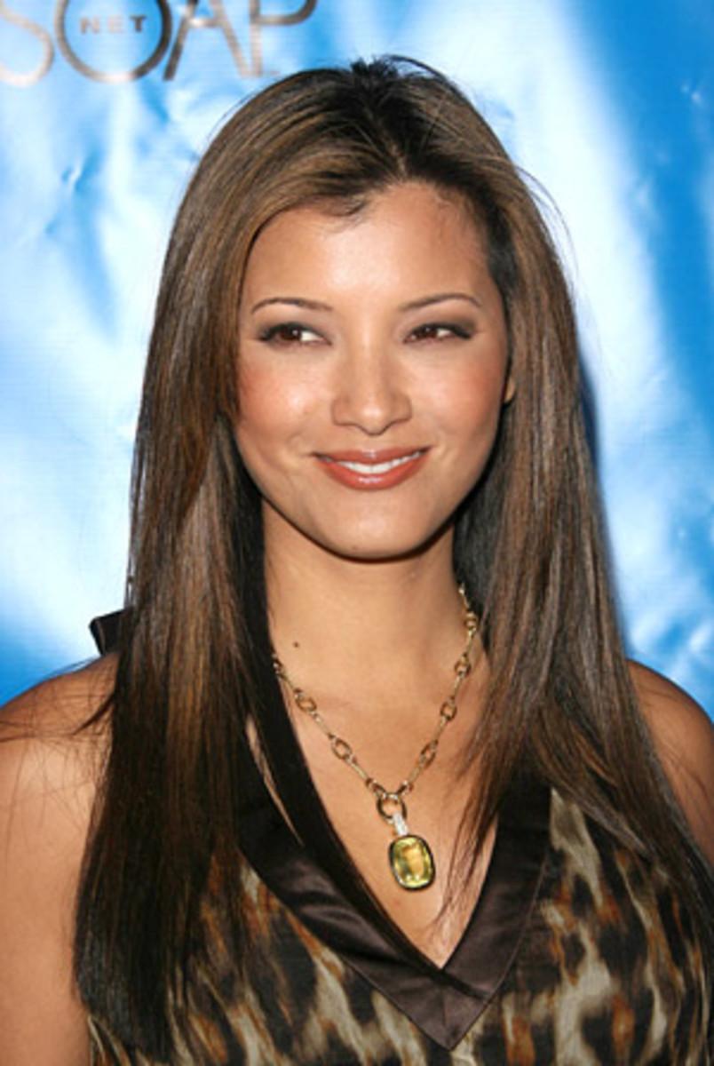 Kelly Hu's lightened brown hair colour.