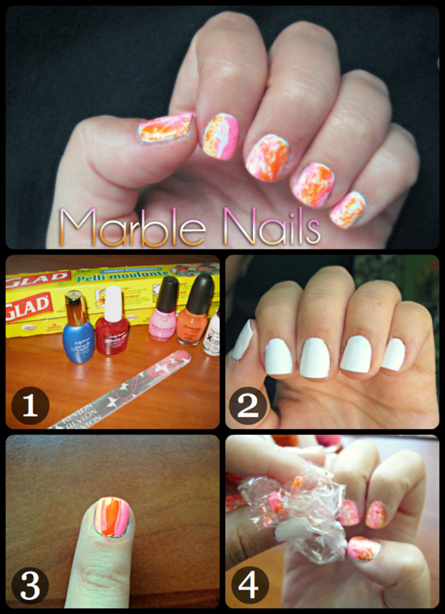 Try This Marble Nail Art Tutorial - Beautyeditor