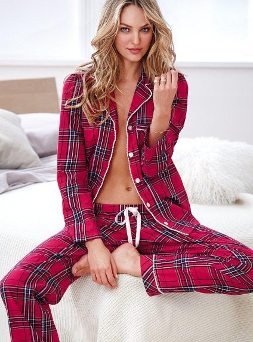 Victorias-Secret-Flannel-pajamas