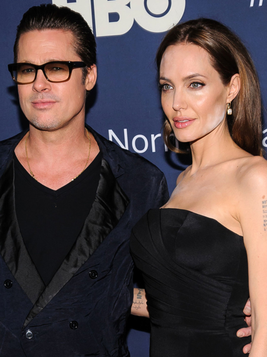 Angelina Jolie And Brad Pitt, The Normal Heart Premiere, 2014