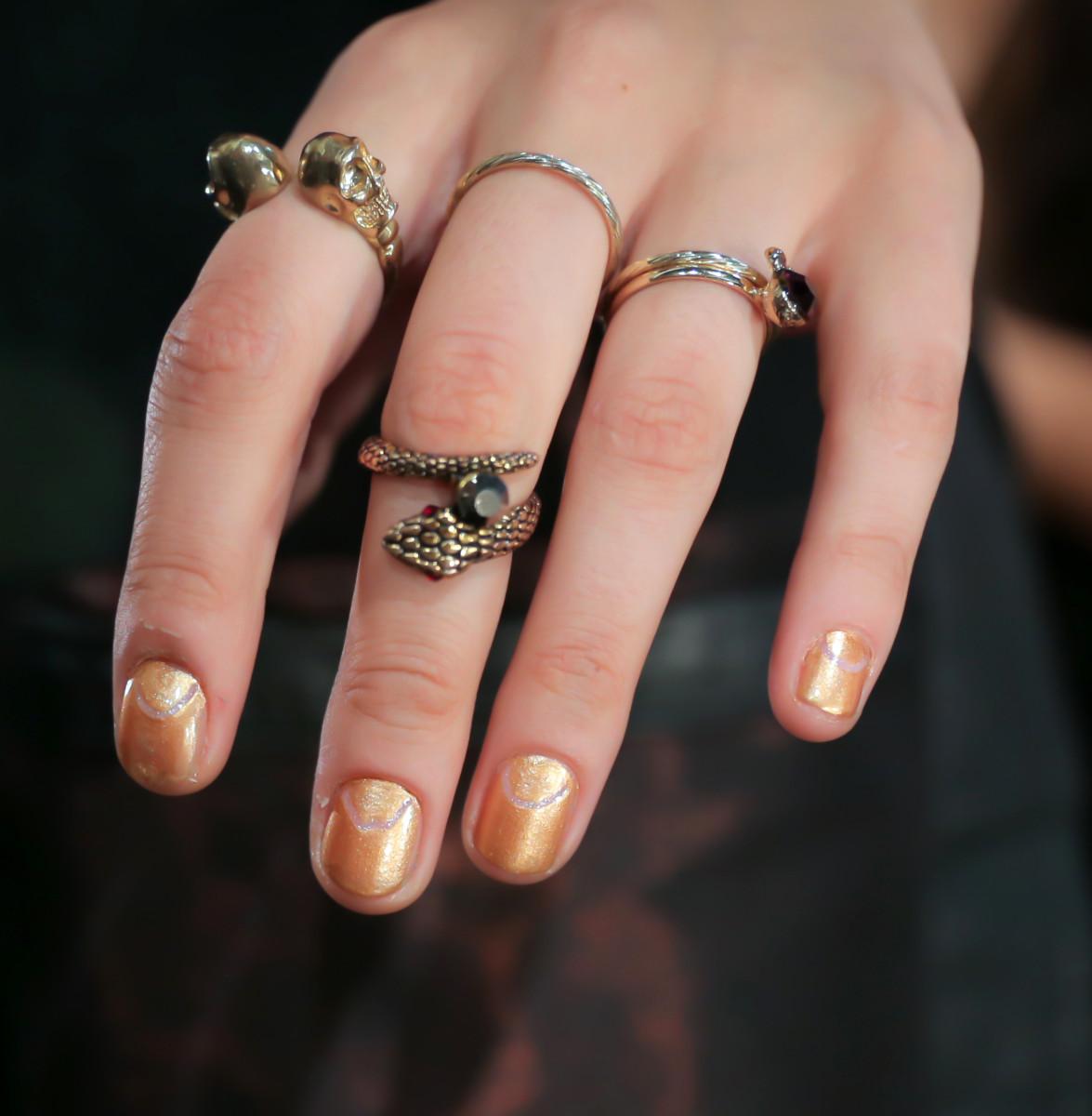 Clover Canyon Spring 2015 nails