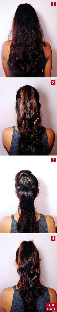 Volume ponytail trick