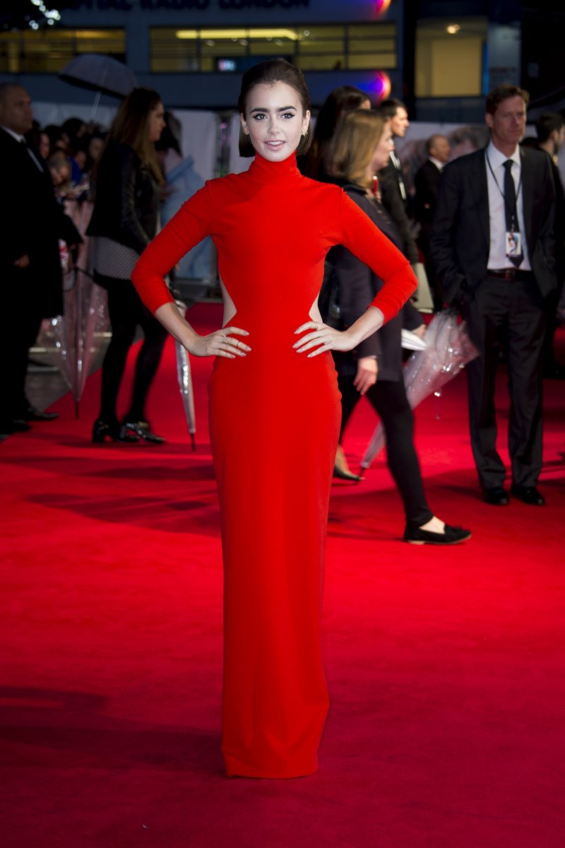 Lily Collins, Love Rosie premiere, 2014