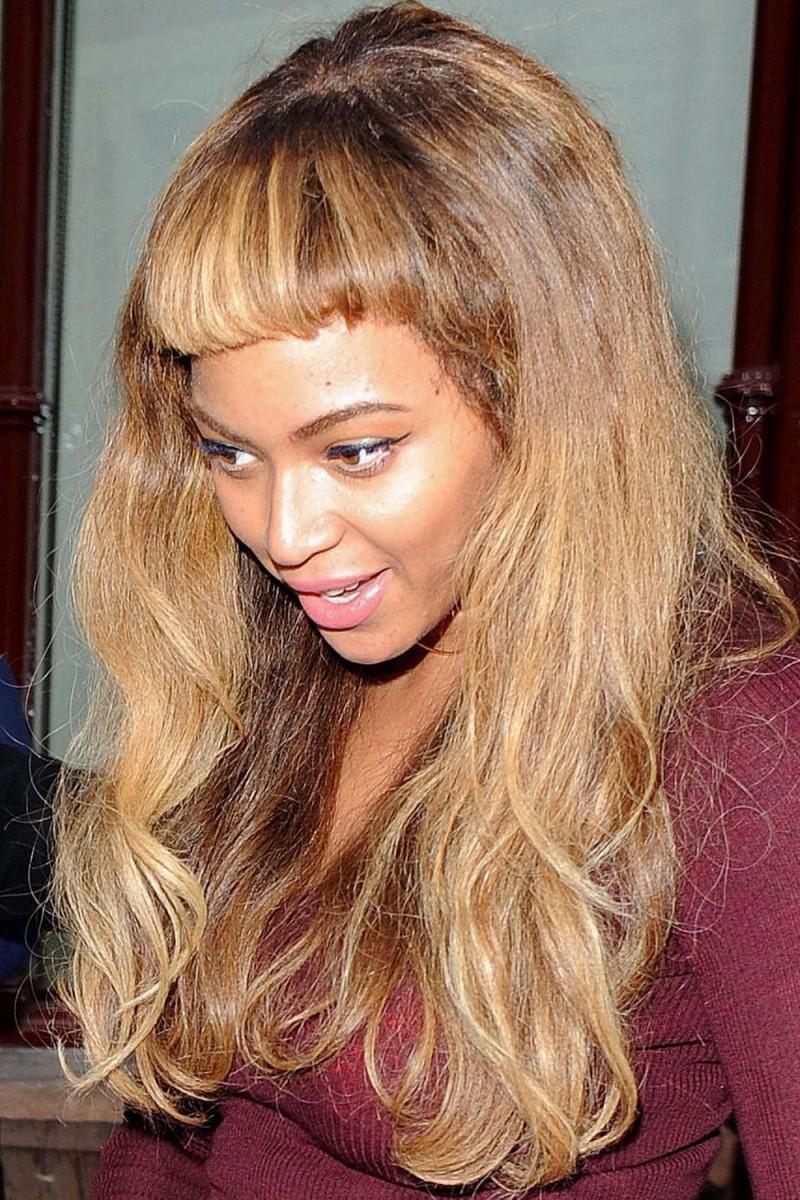 Beyonce short bangs