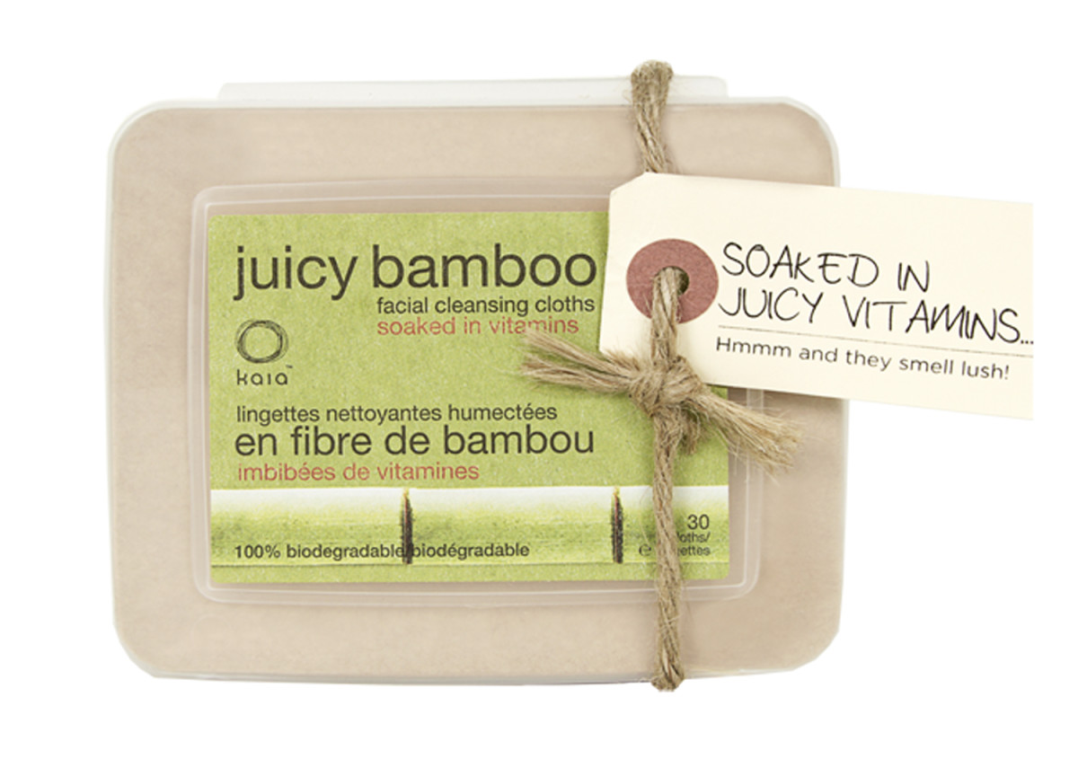 Kaia Naturals Juicy Bamboo Face Wipes