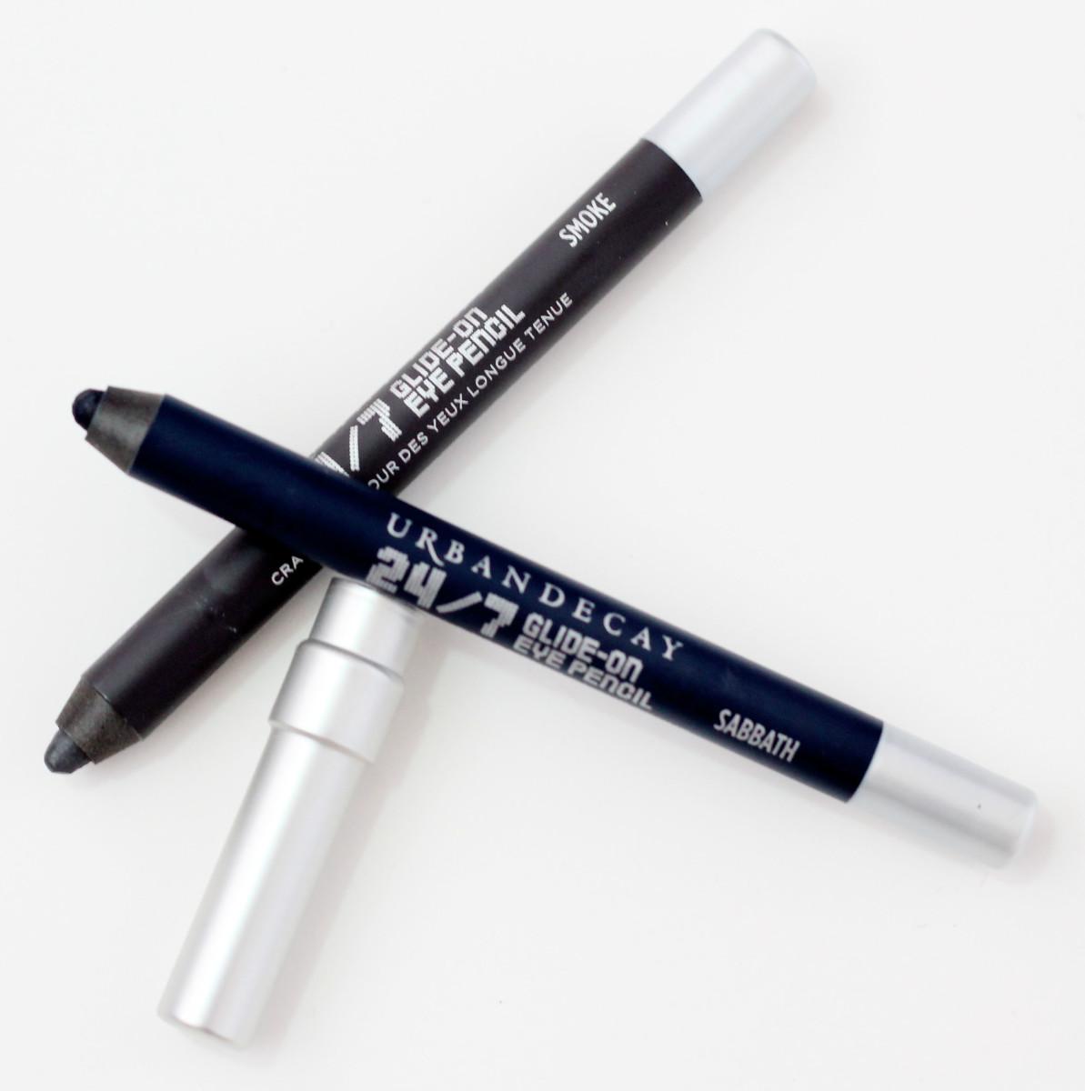 Urban Decay 24/7 Glide-On Eye Pencils in Smoke and Sabbath