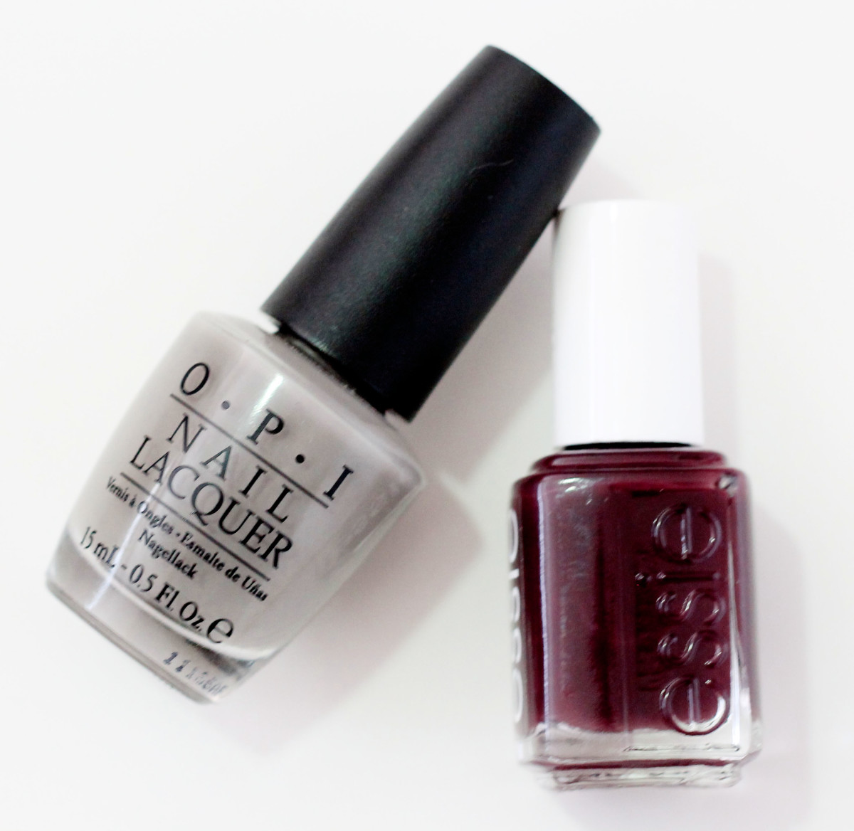 OPI French Quarter For Your Thoughts and Essie Carry On