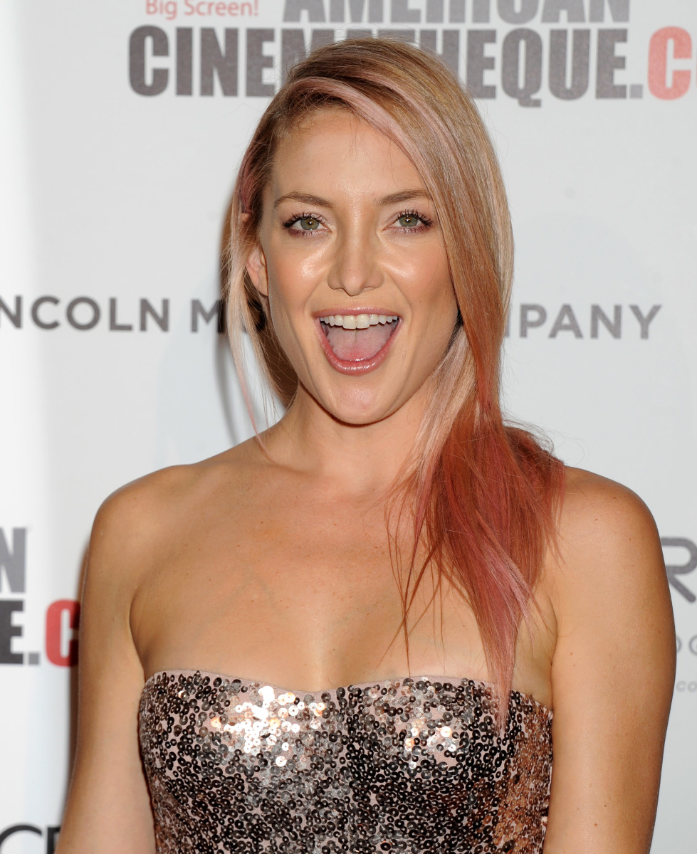 Kate Hudson pink hair, American Cinematheque Awards, 2014