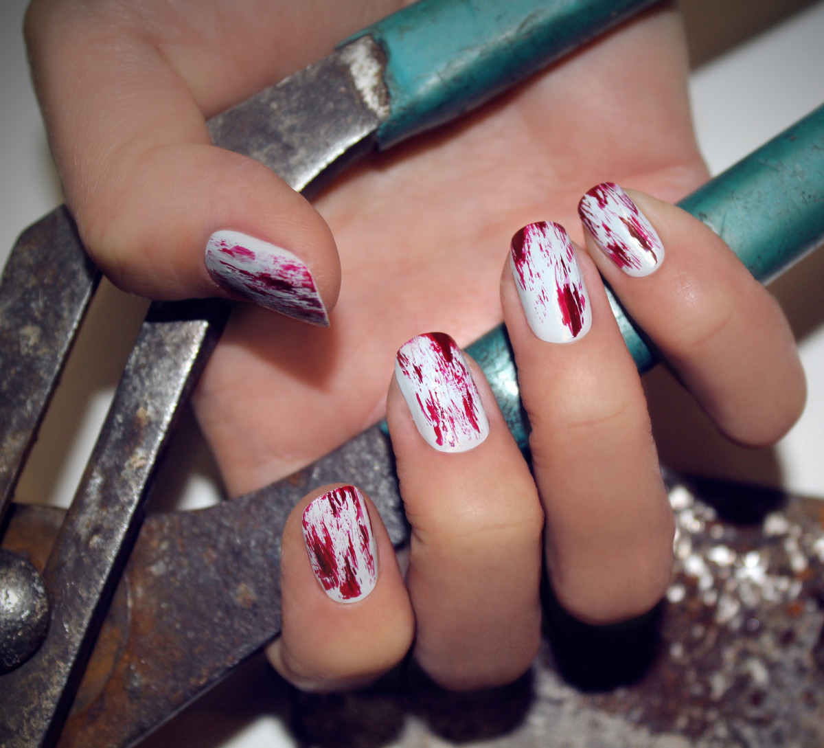 How to Do Bloody Nail Art for Halloween - Beautyeditor
