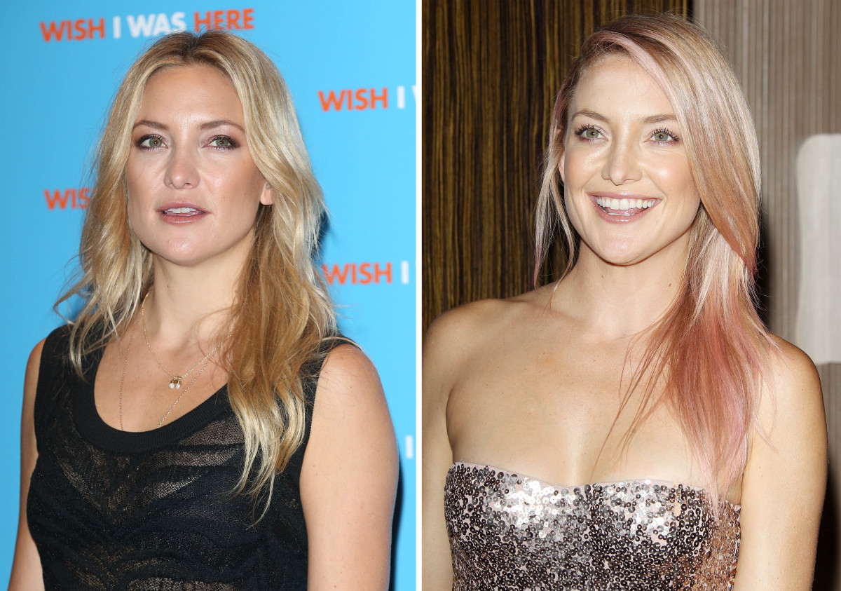 Kate Hudson hair before and after