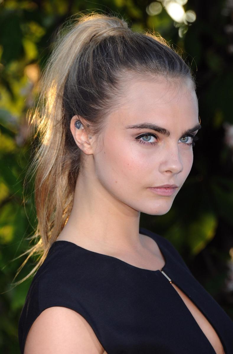 Cara Delevingne long straight hairstyle