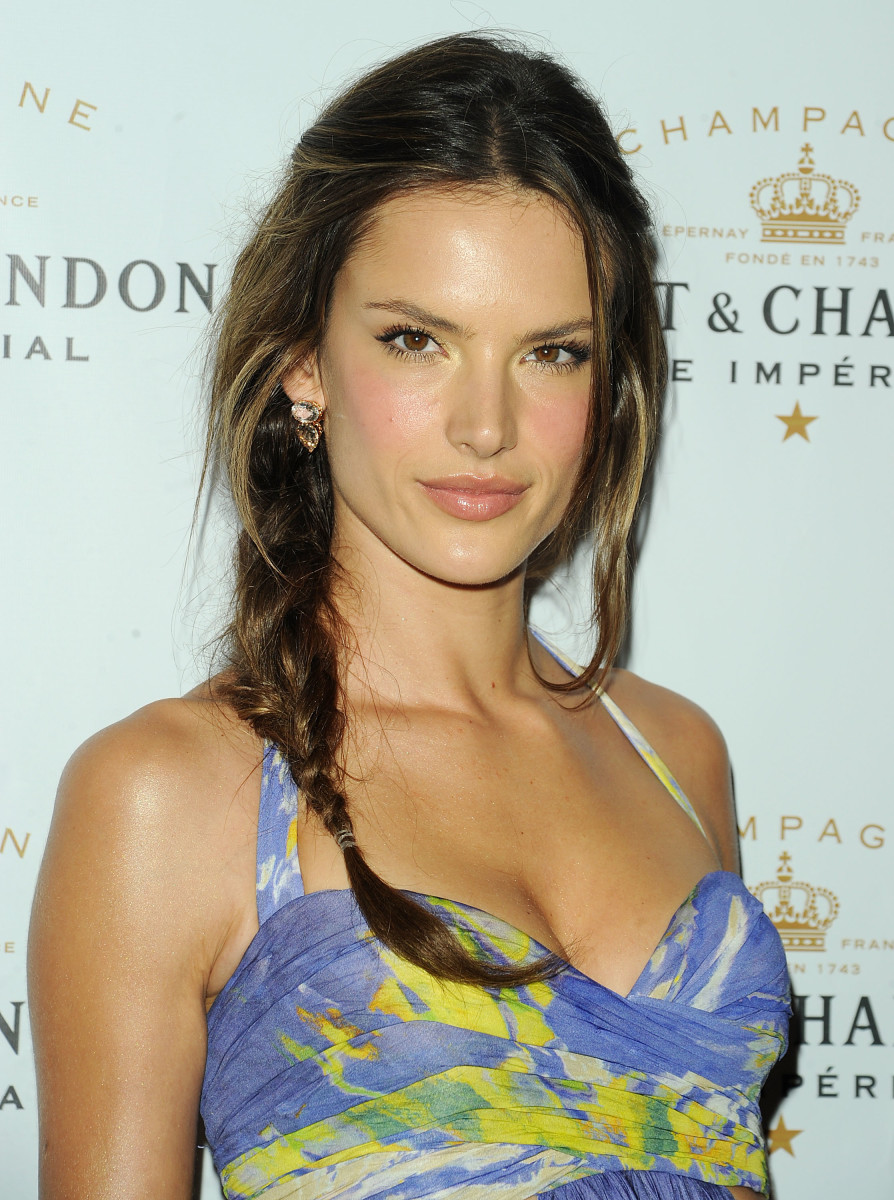Alessandra Ambrosio long straight hairstyle