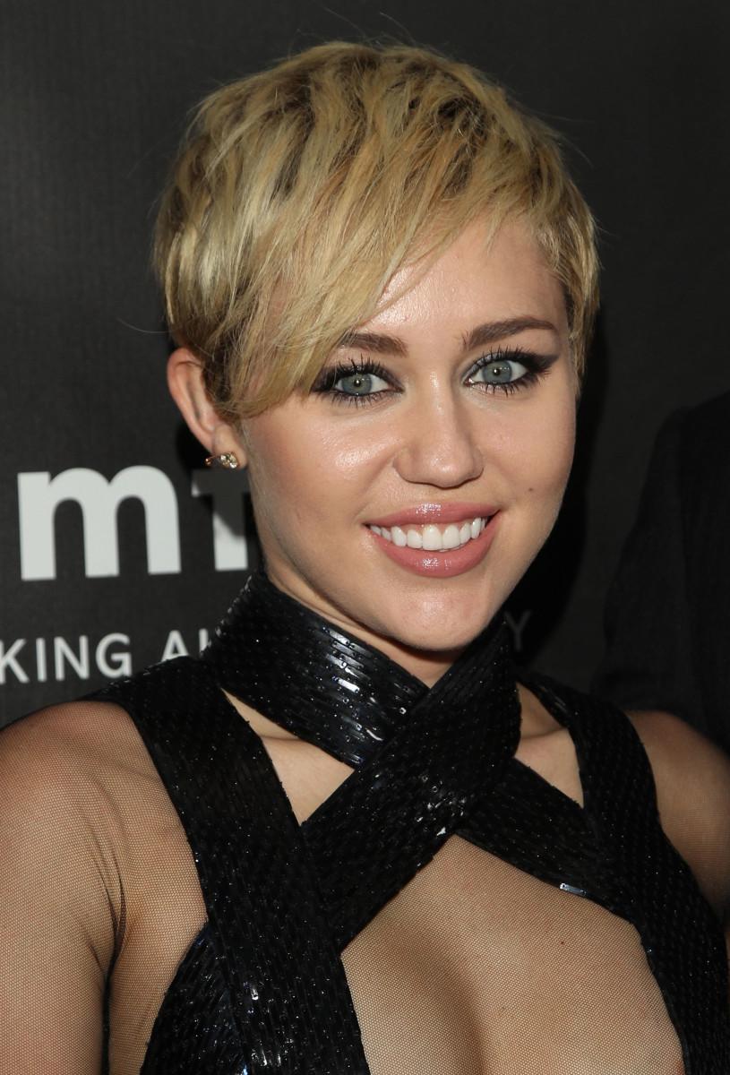Miley Cyrus, amfAR Inspiration Gala, 2014