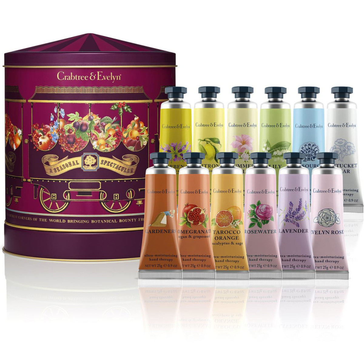 Crabtree & Evelyn Big Top Twelve Hand Therapy Musical Tin