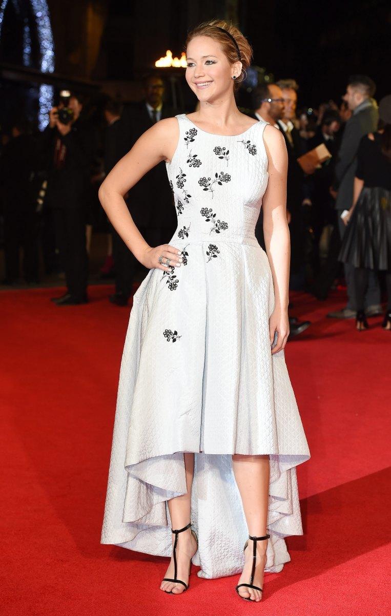 Jennifer Lawrence, The Hunger Games Mockingjay Part 1 premiere, 2014