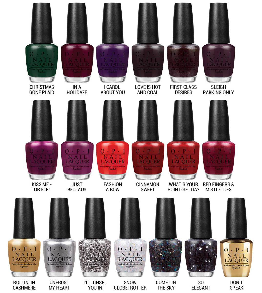 OPI Holiday 2014 Collection