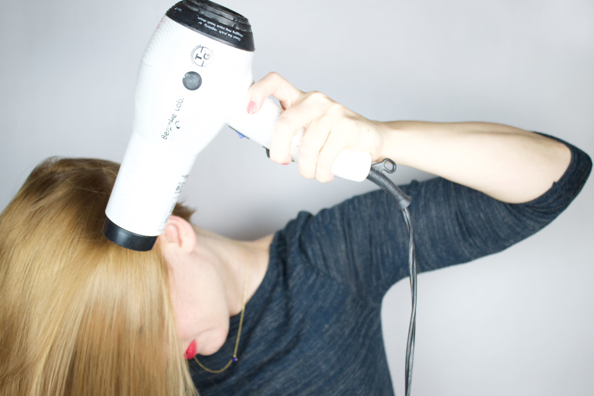 Blow-dry upside down