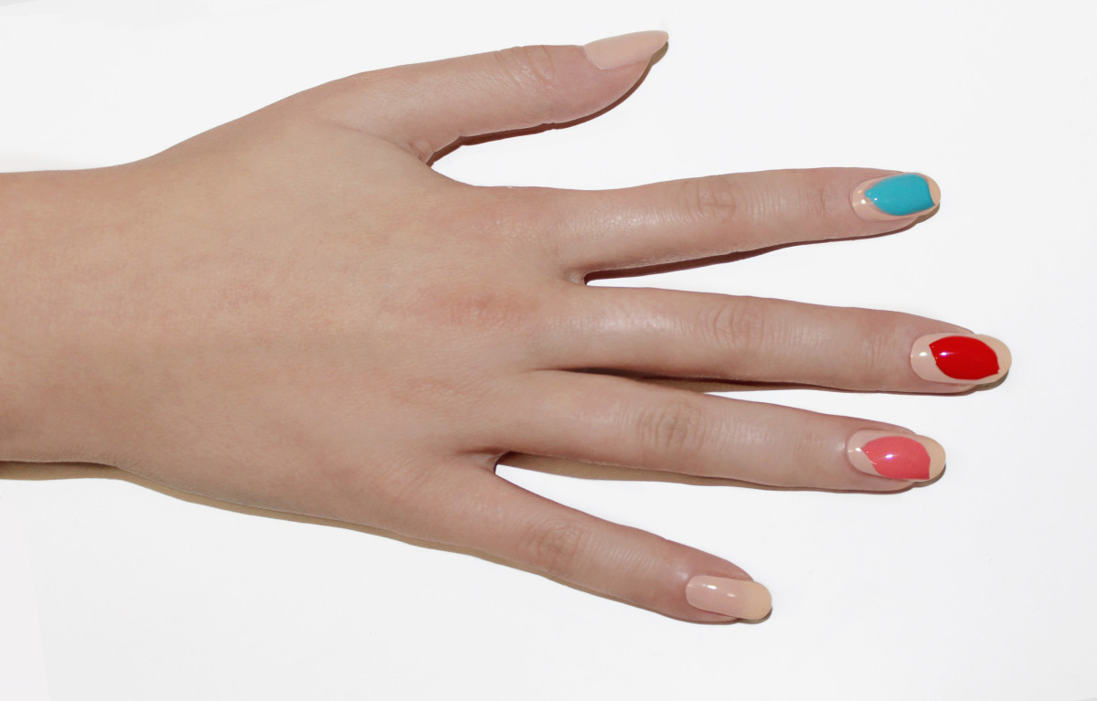 Leaf nail art tutorial - step 3