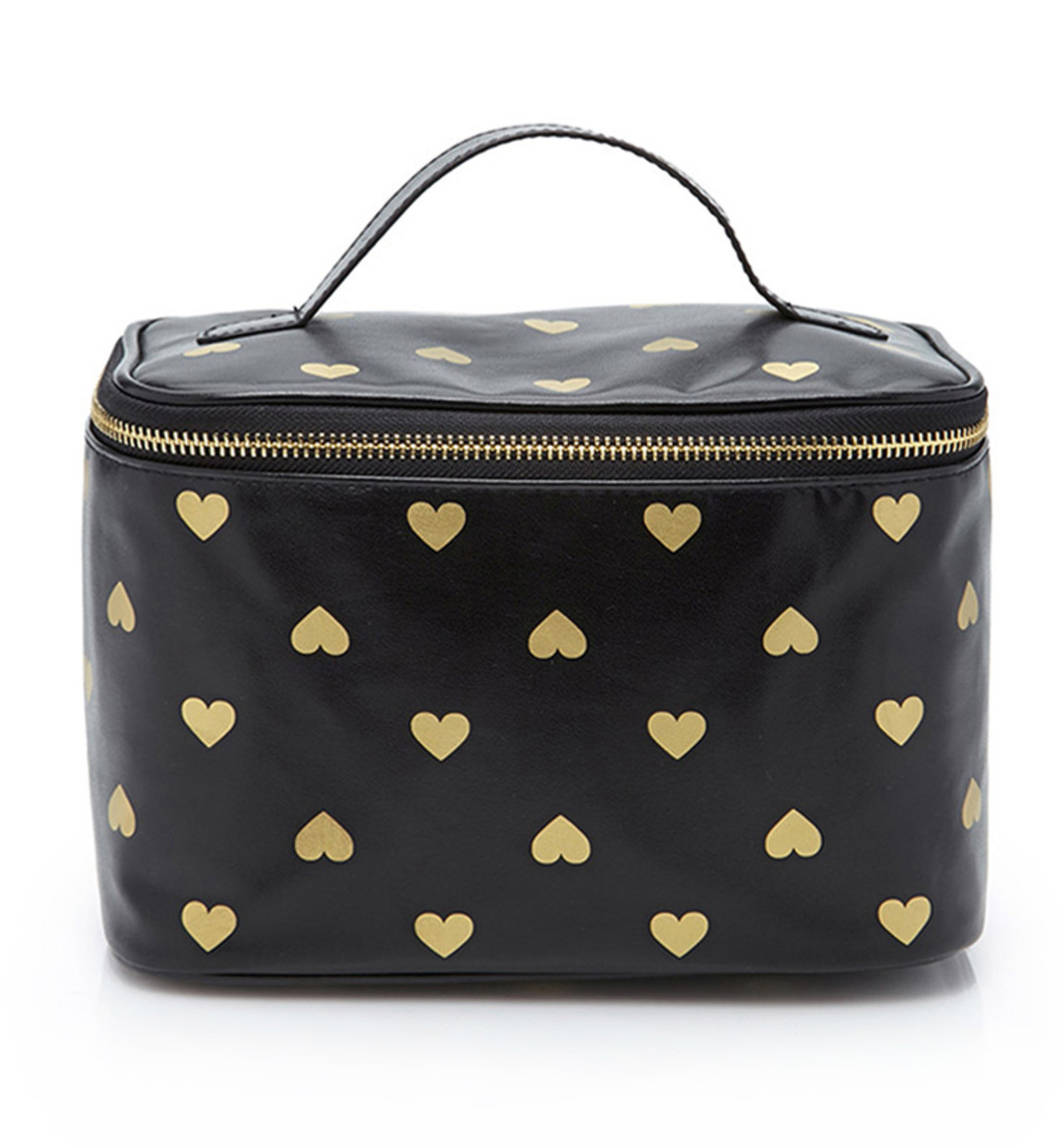 Forever 21 Heart Print Makeup Case