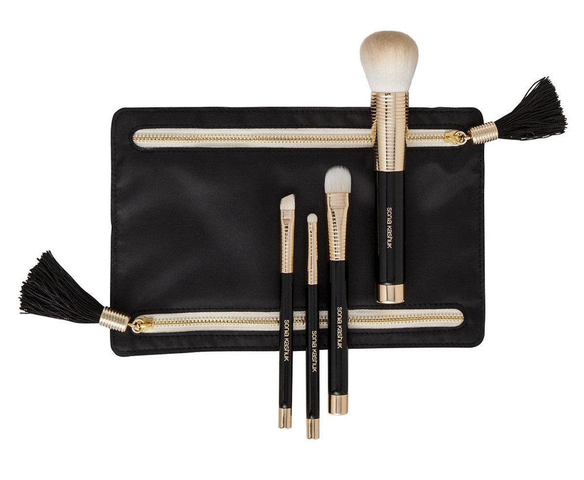 Sonia Kashuk Golden Age Four-Piece Brush Set