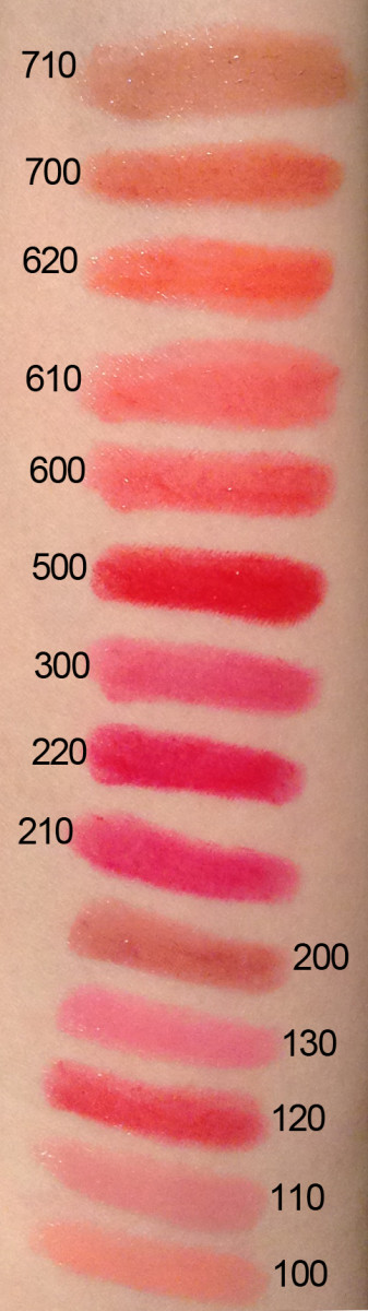 Rimmel Colour Rush Balms swatches
