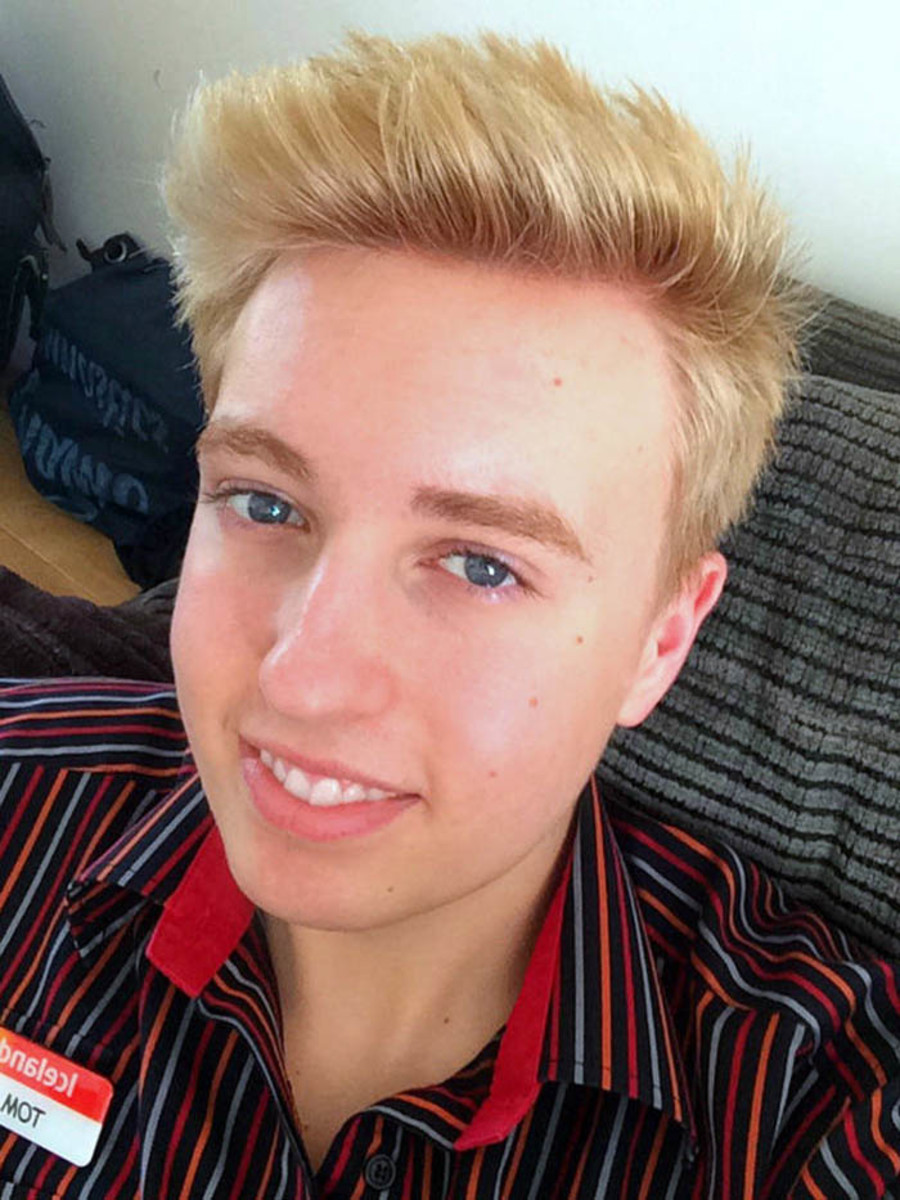 Brown hair blonde at home