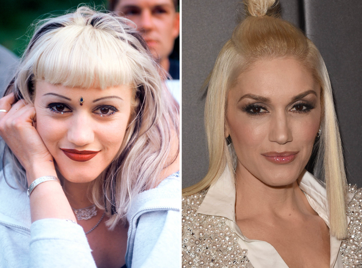 Gwen Stefani before and after