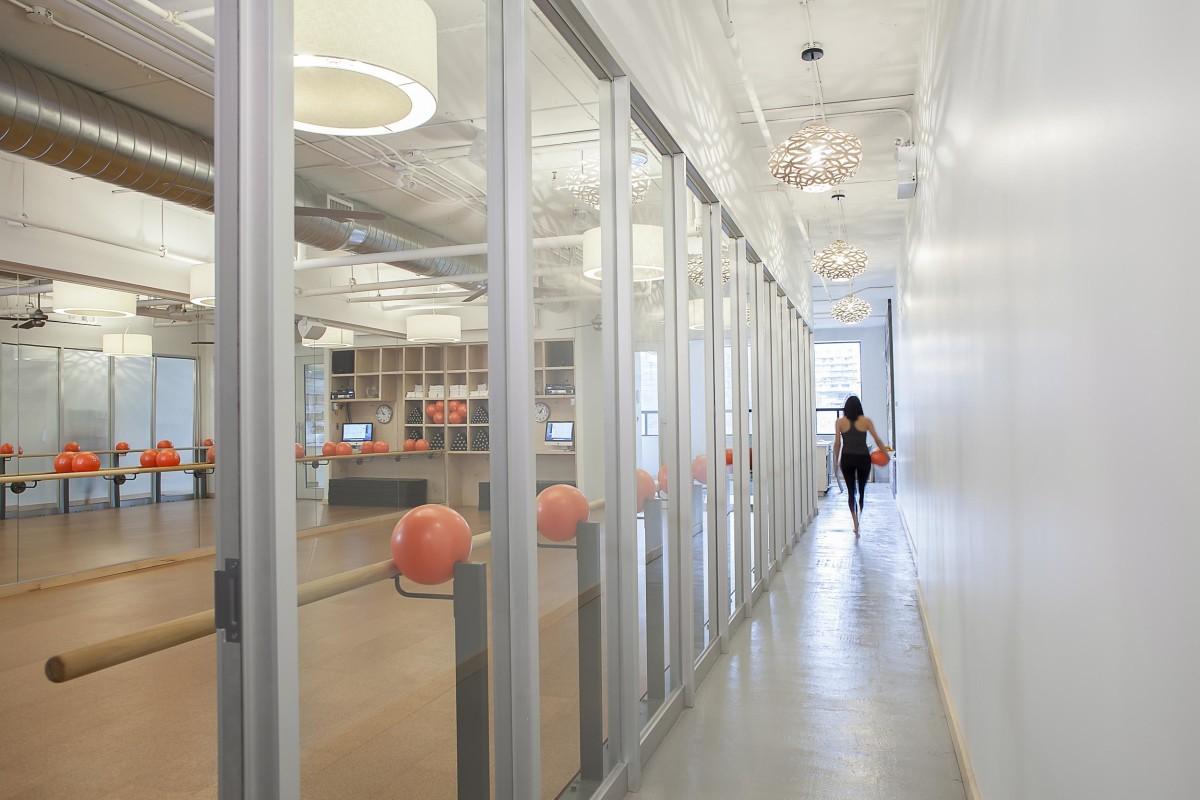 Barre3 Toronto studio and hallway