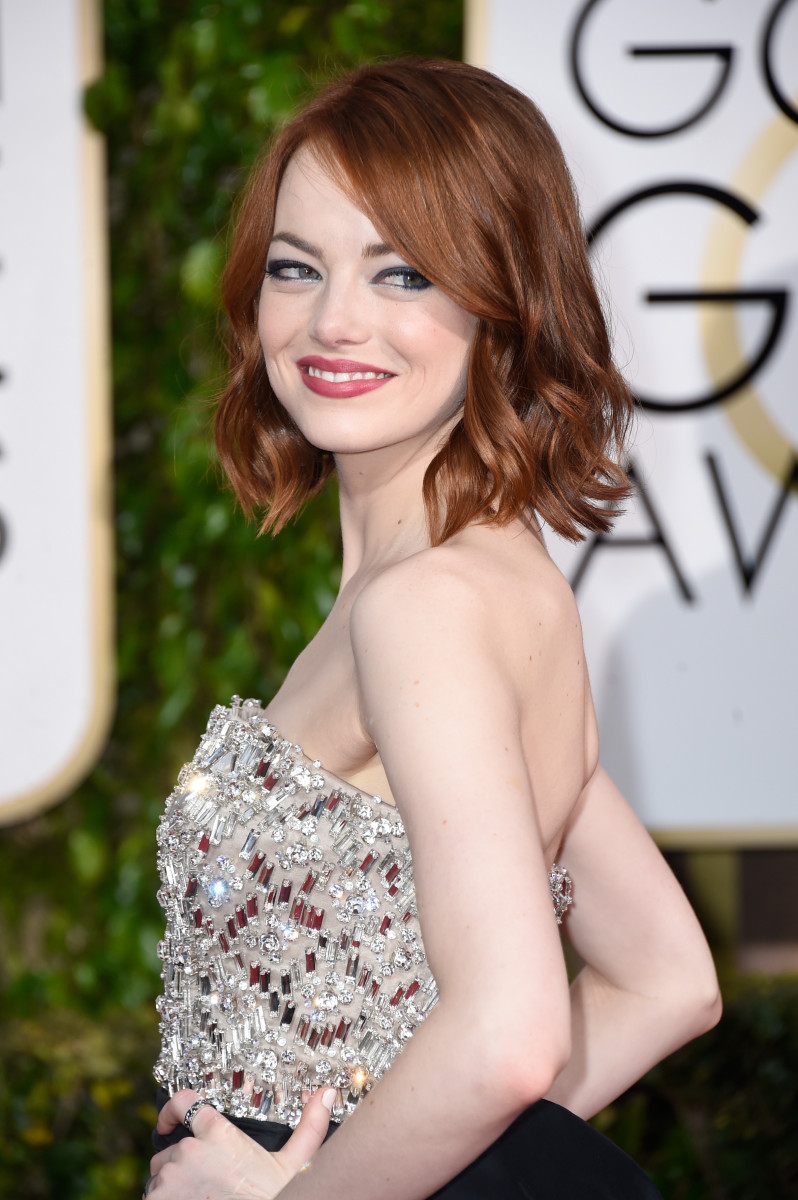 Emma Stone, Golden Globes 2015