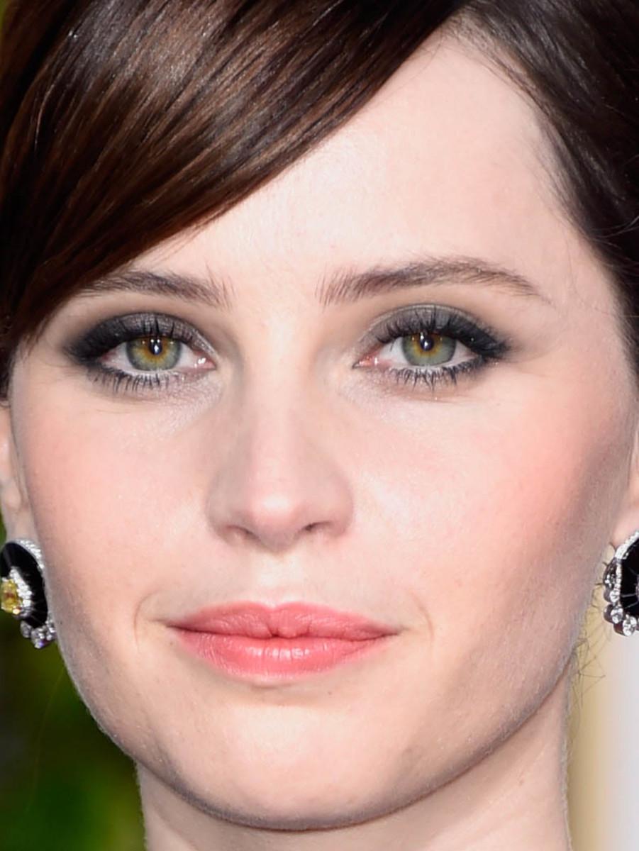Felicity Jones, Golden Globes 2015