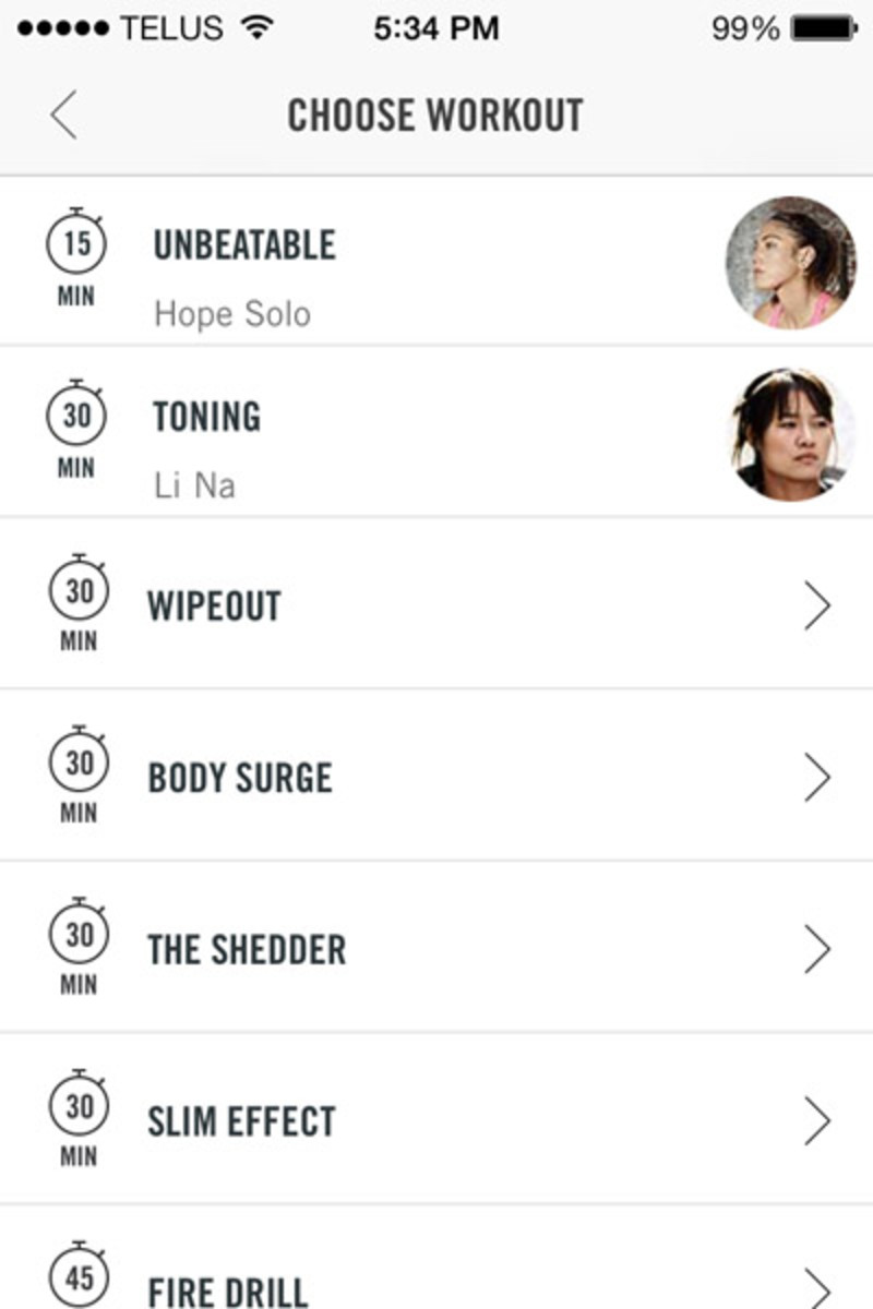 Nike NTC app workouts