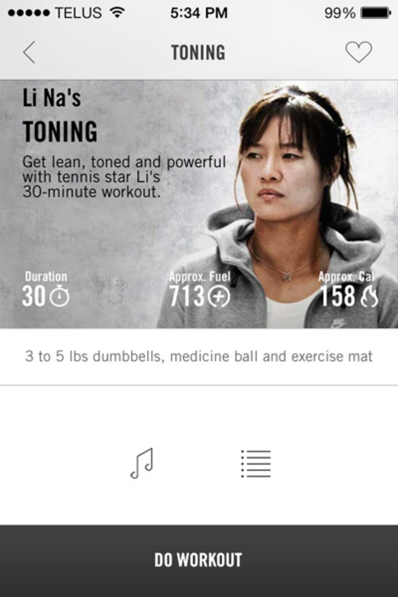 Nike NTC app featured workout