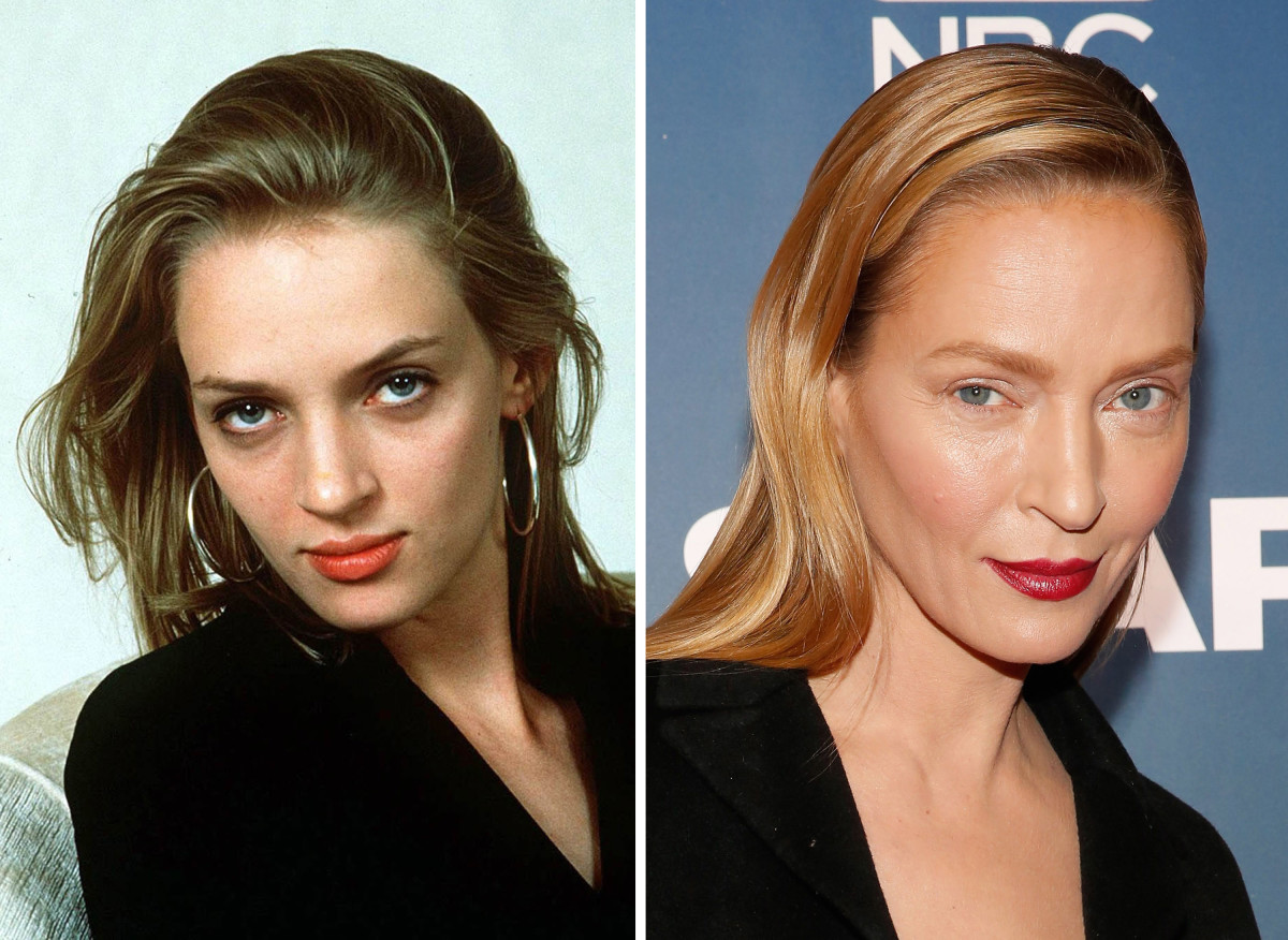 Uma Thurman before and after