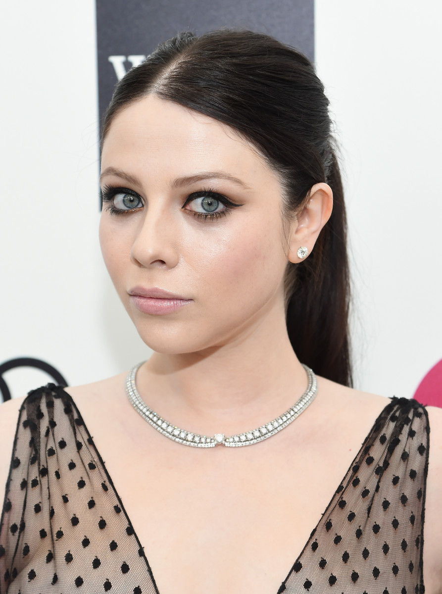 Michelle Trachtenberg, Elton John AIDS Foundation Academy Awards viewing party, 2015