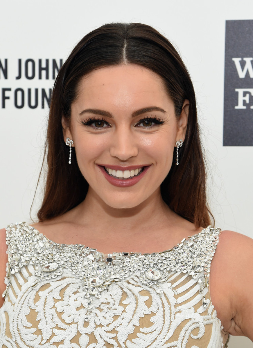 Kelly Brook, Elton John AIDS Foundation Academy Awards viewing party, 2015