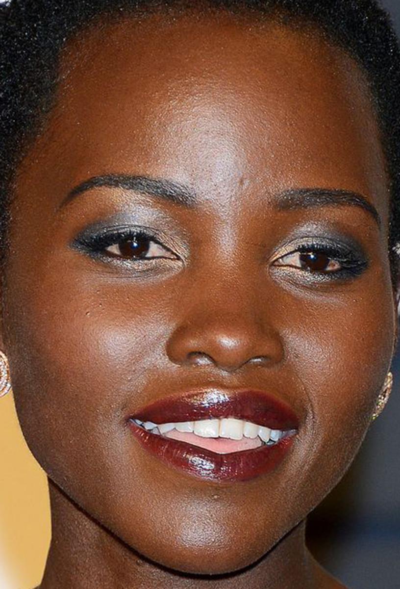 Lupita Nyong'o, Vanity Fair Oscar party, 2015