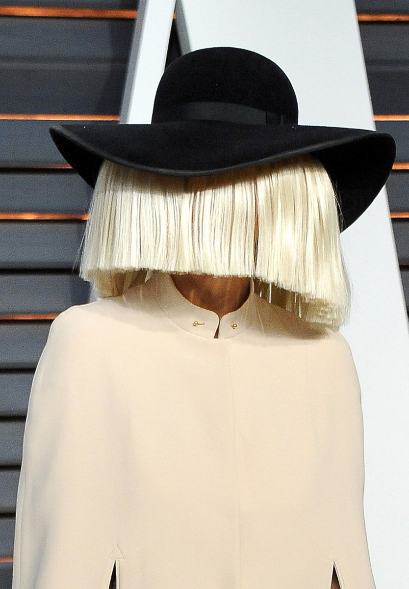 Sia, Vanity Fair Oscar party, 2015