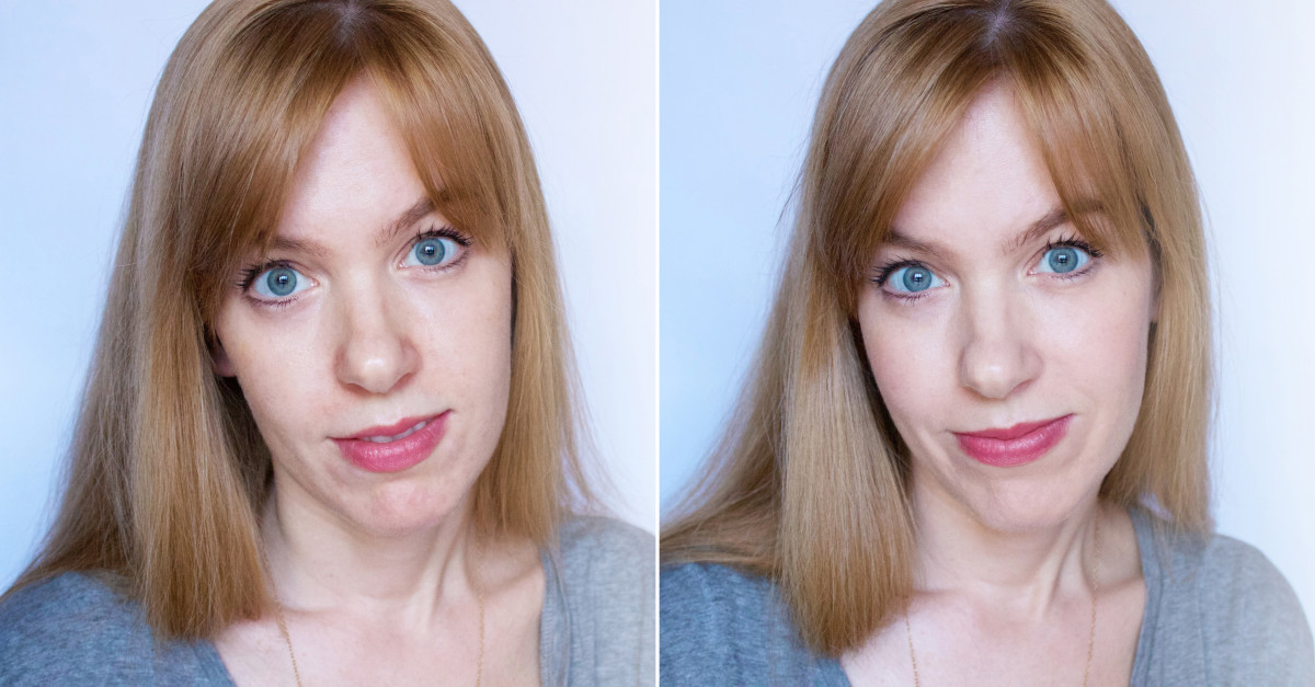 Biotherm CC Cream before and after