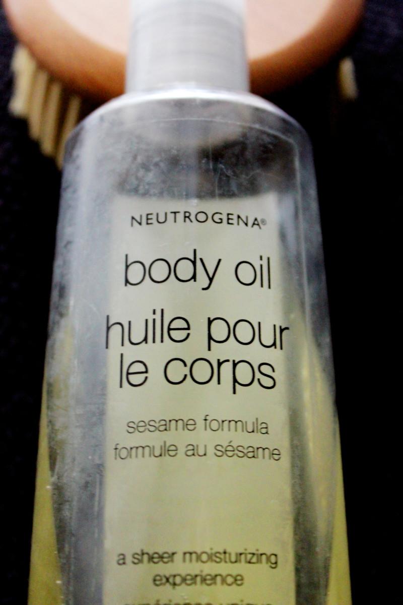 Dry brushing sesame oil