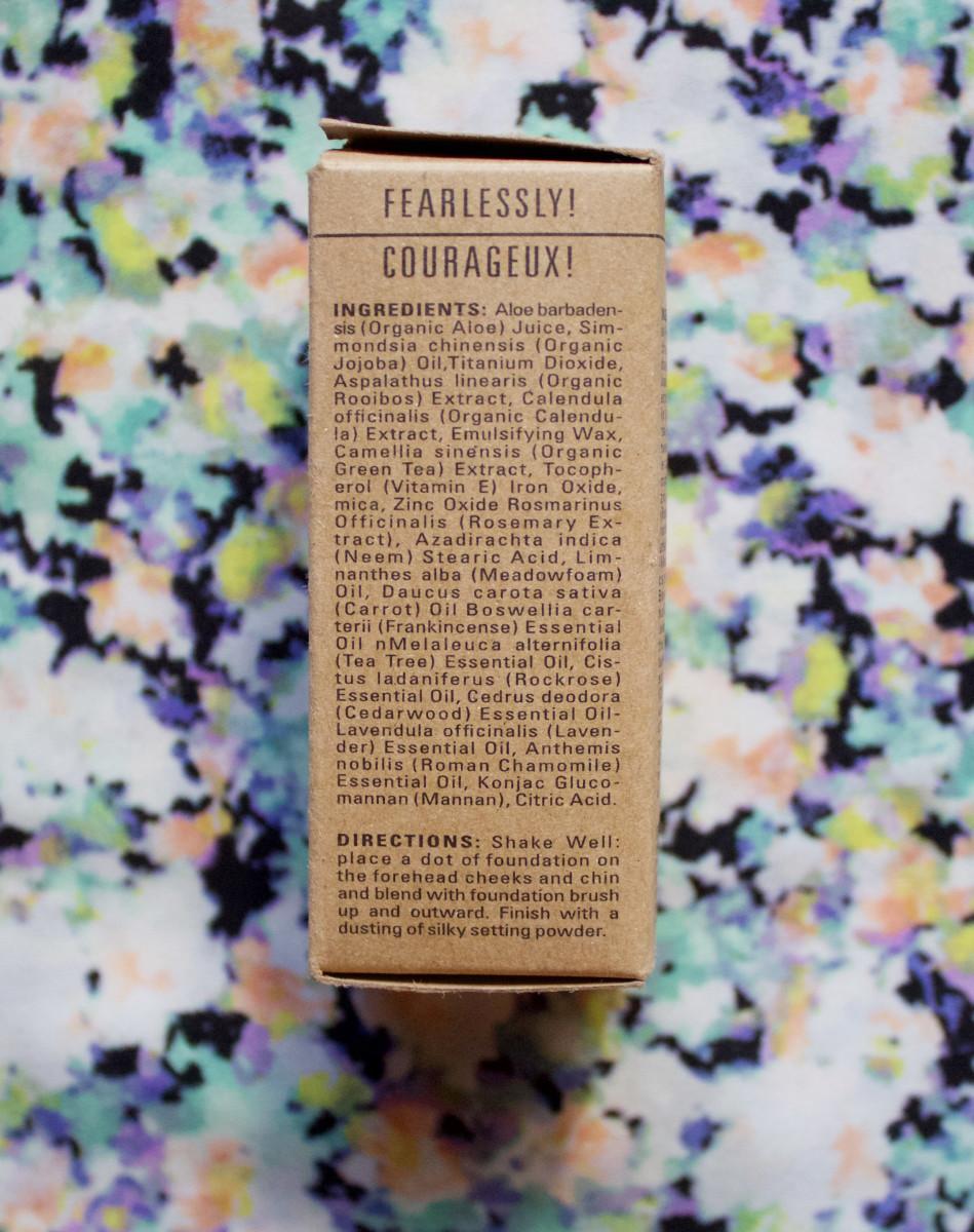 Sappho Organics Liquid Foundation (ingredients)